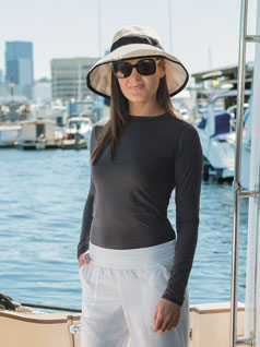 Women&#39;s Bodyshade<sup>&#174;</sup> Crew Neck Top