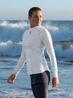 Women's Zip Front Swim Top