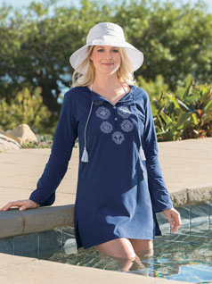 Women's Embroidered Beach Tunic