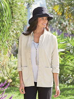 Women's Mandarin Collar Jacket