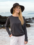 View Women's Ruched Pullover