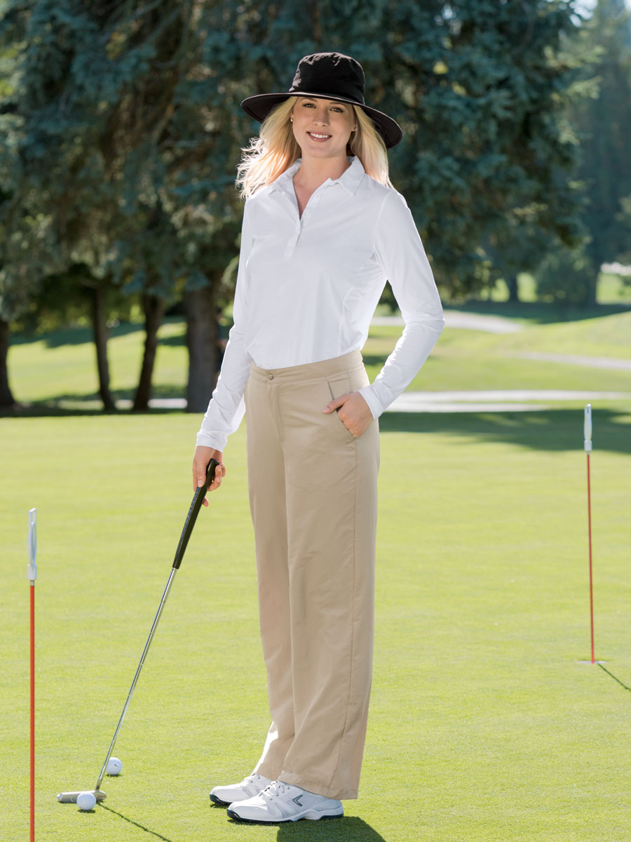 View Women's Flat Front Pants